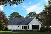 Craftsman Style House Plan - 3 Beds 2.5 Baths 1986 Sq/Ft Plan #923-169 Exterior - Rear Elevation