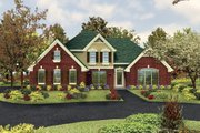 Traditional Style House Plan - 4 Beds 3.5 Baths 2597 Sq/Ft Plan #57-122 Exterior - Front Elevation