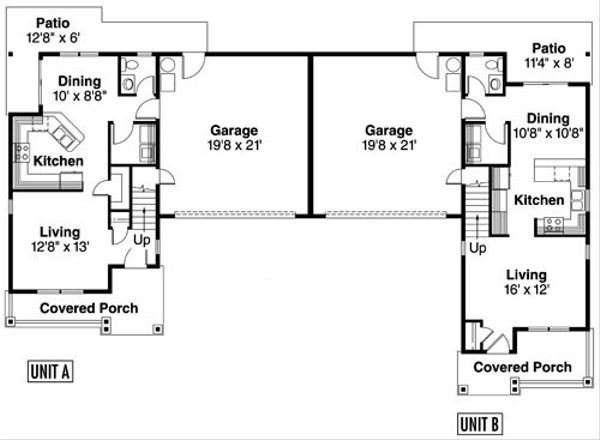 Home Plan - Floor Plan - Main Floor Plan #124-814