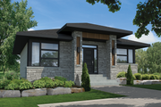 Contemporary Style House Plan - 2 Beds 1 Baths 1012 Sq/Ft Plan #25-4462 Exterior - Front Elevation
