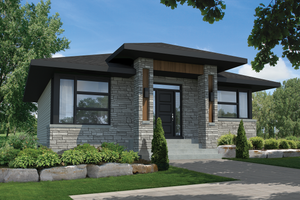 Contemporary Exterior - Front Elevation Plan #25-4462