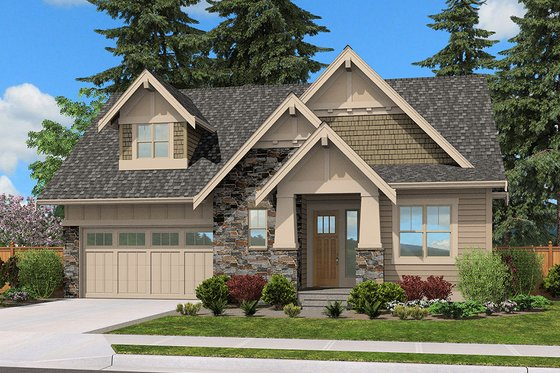Cottage Exterior - Front Elevation Plan #132-567