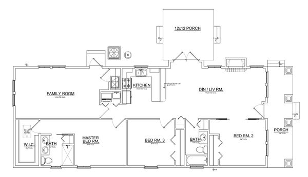 Floor Plan - Main Floor Plan Plan #550-2