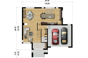 Contemporary Style House Plan - 3 Beds 2.5 Baths 2574 Sq/Ft Plan #25-4907
