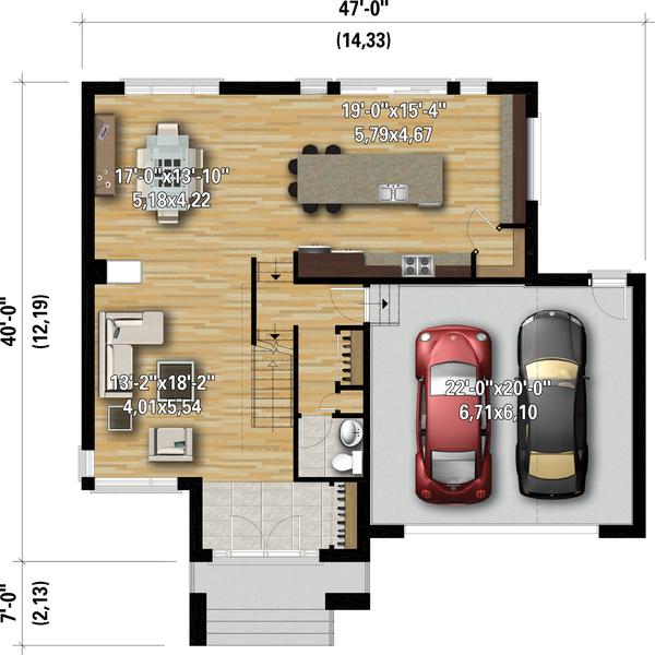Dream House Plan - Contemporary Floor Plan - Main Floor Plan #25-4907