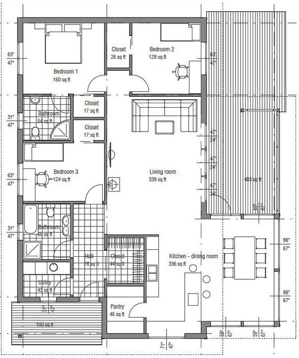 Modern Floor Plan - Main Floor Plan #537-24