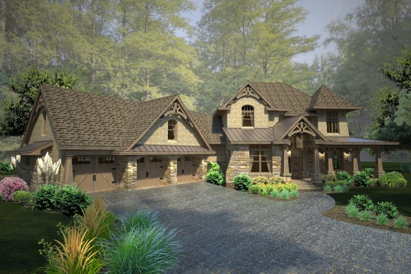 Craftsman Exterior - Front Elevation Plan #120-178 - Houseplans.com
