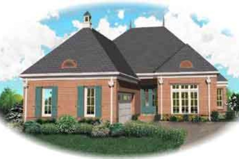 Traditional Style House Plan - 4 Beds 3 Baths 3245 Sq/Ft Plan #81-576 Exterior - Front Elevation