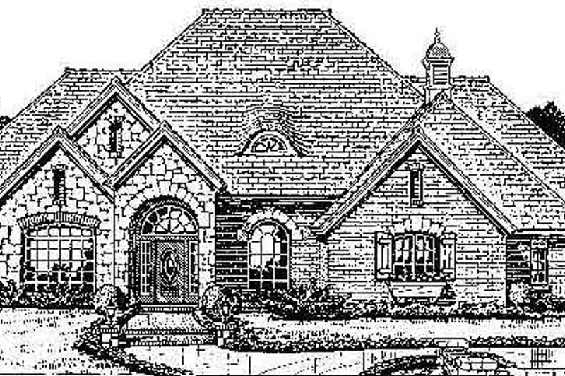 Cottage Style House Plan - 4 Beds 3.5 Baths 2670 Sq/Ft Plan #310-710 Exterior - Front Elevation