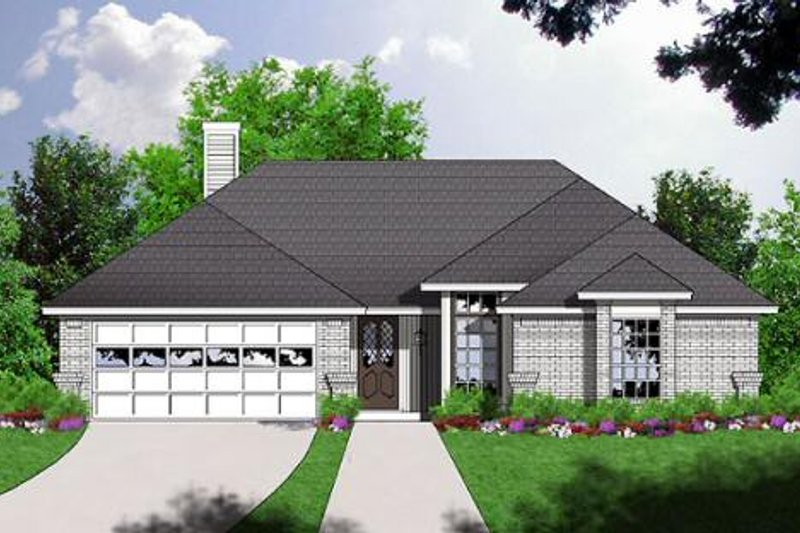 Traditional Style House Plan - 3 Beds 2 Baths 1300 Sq/Ft Plan #40-205