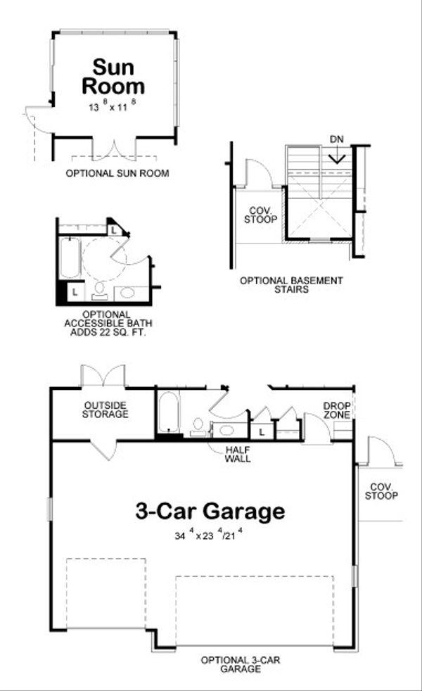 European Floor Plan - Other Floor Plan Plan #20-2068