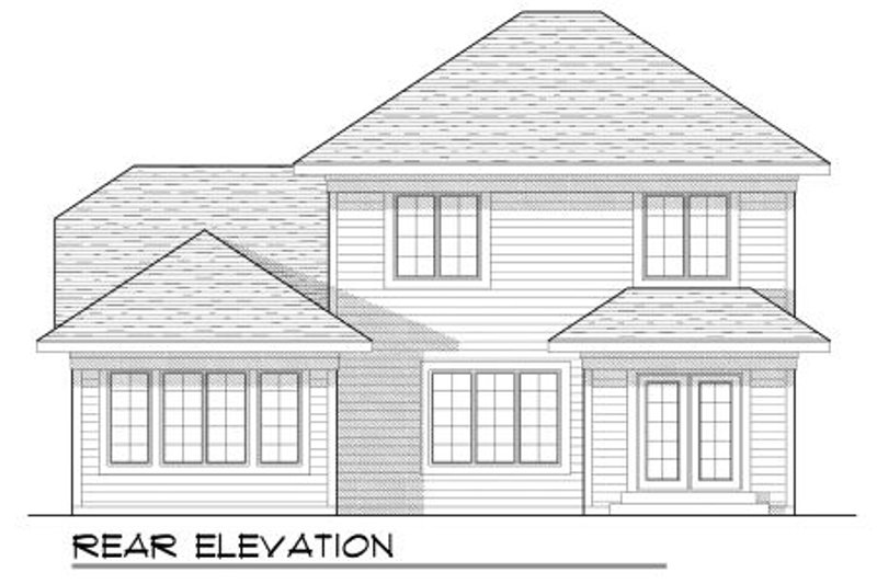 Traditional Exterior - Rear Elevation Plan #70-944 - Houseplans.com