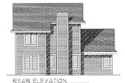 Traditional Style House Plan - 3 Beds 2 Baths 1387 Sq/Ft Plan #70-124 Exterior - Rear Elevation