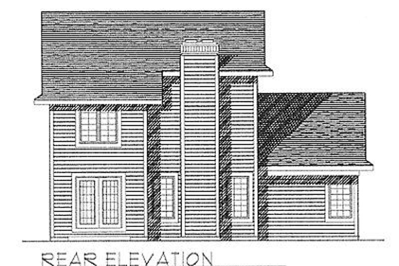 Traditional Exterior - Rear Elevation Plan #70-124 - Houseplans.com