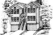 Modern Style House Plan - 2 Beds 2 Baths 2200 Sq/Ft Plan #303-284 Exterior - Front Elevation