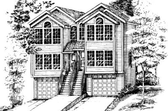 Modern Exterior - Front Elevation Plan #303-284