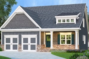 Country Exterior - Front Elevation Plan #419-319