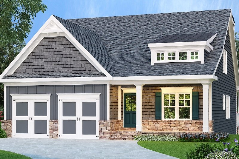 Country Style House Plan - 4 Beds 2.5 Baths 2737 Sq/Ft Plan #419-319 Exterior - Front Elevation