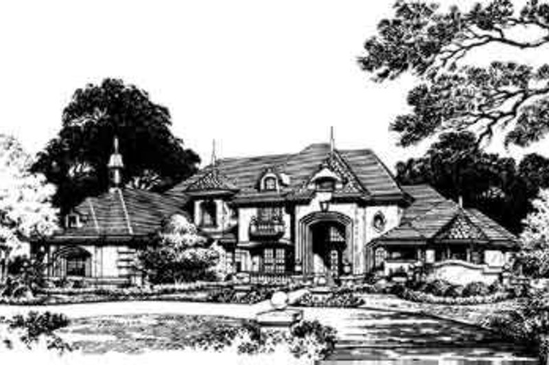 European Style House Plan - 5 Beds 5 Baths 4795 Sq/Ft Plan #135-107