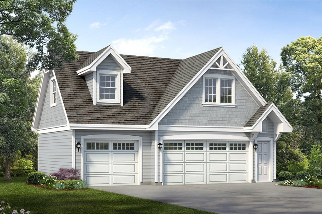 Traditional style house plan 1 beds 1 baths 1468 sq ft for Cool garage apartment plans