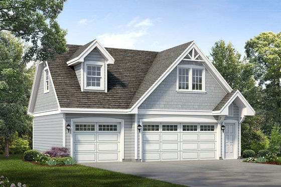 Traditional Exterior - Front Elevation Plan #47-1082