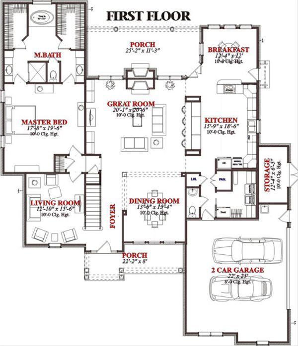 Traditional Floor Plan - Main Floor Plan Plan #63-213