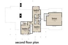 Farmhouse Floor Plan - Upper Floor Plan Plan #120-266