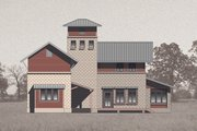 Farmhouse Style House Plan - 4 Beds 4 Baths 3465 Sq/Ft Plan #531-2 Exterior - Rear Elevation