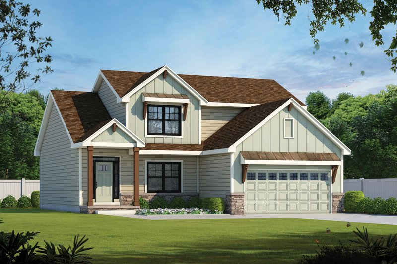 Architectural House Design - Traditional Exterior - Front Elevation Plan #20-2396
