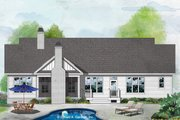 Craftsman Style House Plan - 3 Beds 2 Baths 1747 Sq/Ft Plan #929-1078 Exterior - Rear Elevation