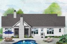 Craftsman Exterior - Rear Elevation Plan #929-1078