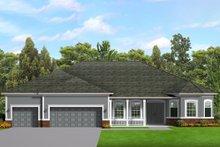 House Blueprint - Ranch Exterior - Front Elevation Plan #1058-198
