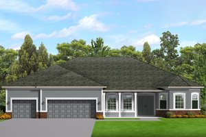 Architectural House Design - Ranch Exterior - Front Elevation Plan #1058-198