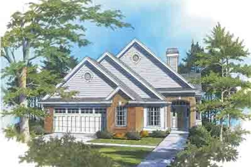 Traditional Exterior - Front Elevation Plan #48-200