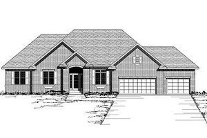 European Exterior - Front Elevation Plan #51-260