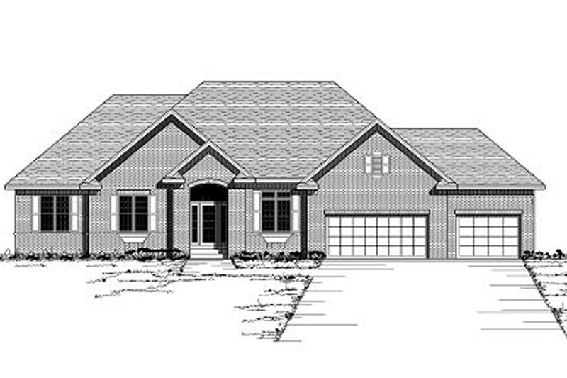 European Style House Plan - 2 Beds 2.5 Baths 2319 Sq/Ft Plan #51-260 Exterior - Front Elevation