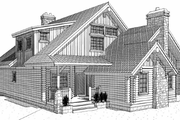 Log Style House Plan - 4 Beds 4 Baths 3610 Sq/Ft Plan #451-8 Exterior - Front Elevation