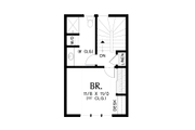 Tudor Style House Plan - 1 Beds 1 Baths 628 Sq/Ft Plan #48-999 Floor Plan - Upper Floor