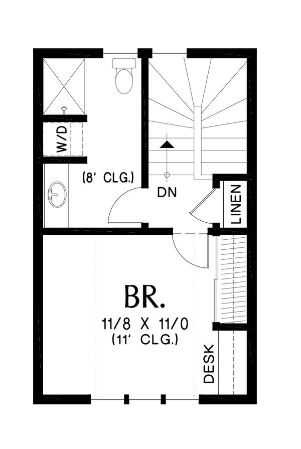 Tudor Floor Plan - Upper Floor Plan #48-999