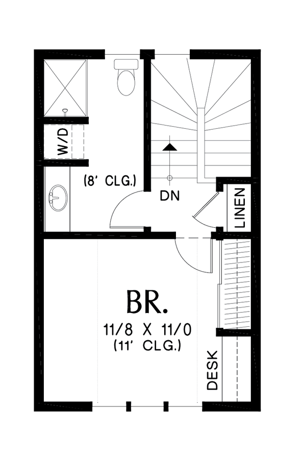 Tudor Floor Plan - Upper Floor Plan Plan #48-999