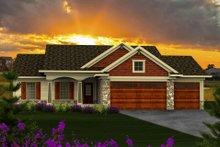 Dream House Plan - Craftsman Exterior - Front Elevation Plan #70-1159
