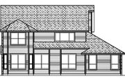 Traditional Style House Plan - 4 Beds 3.5 Baths 2993 Sq/Ft Plan #84-394 Exterior - Rear Elevation