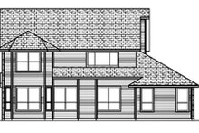 Home Plan - Traditional Exterior - Rear Elevation Plan #84-394