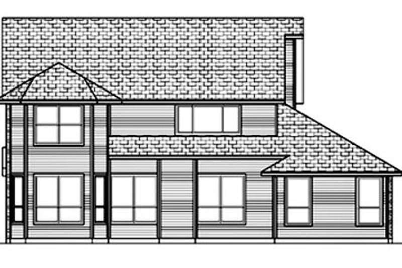 Traditional Exterior - Rear Elevation Plan #84-394 - Houseplans.com