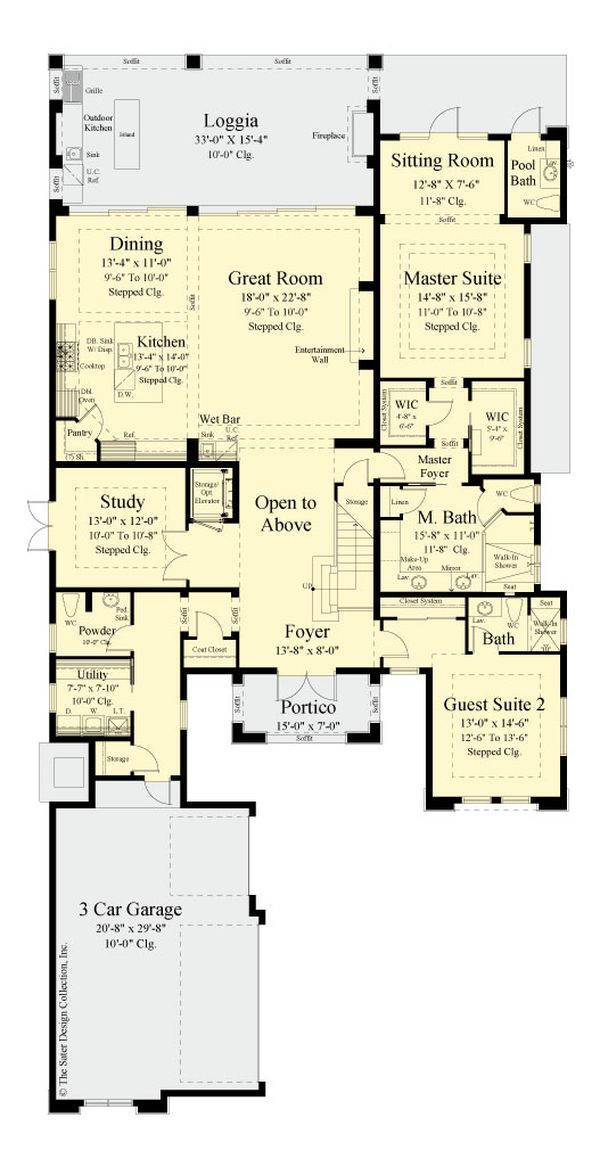 House Plan Design - Modern Floor Plan - Main Floor Plan #930-519