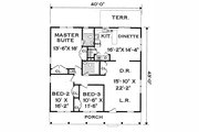 Country Style House Plan - 3 Beds 2 Baths 1500 Sq/Ft Plan #3-120