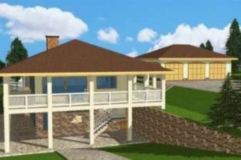 Traditional Exterior - Front Elevation Plan #117-365 - Houseplans.com