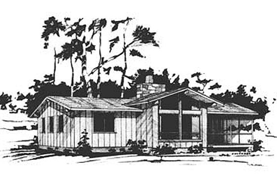 Ranch Exterior - Front Elevation Plan #10-120