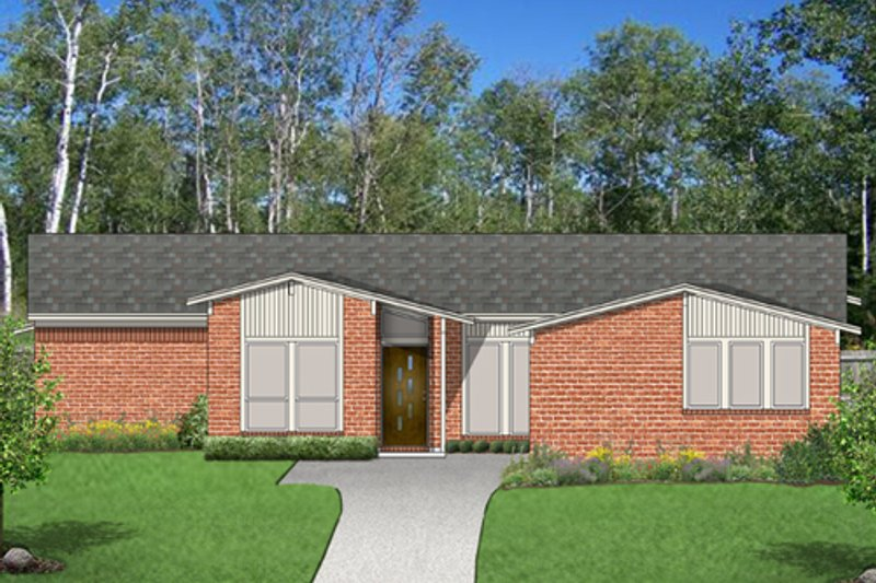 Exterior - Front Elevation Plan #84-520
