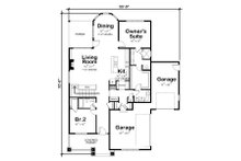 European Floor Plan - Main Floor Plan Plan #20-2335